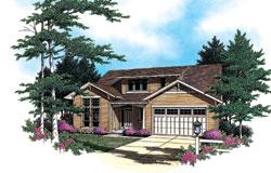 Bungalow Style House Plans Plan: 74-565