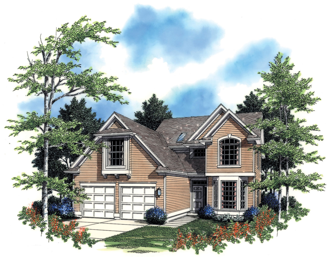Traditional Style House Plans Plan: 74-577