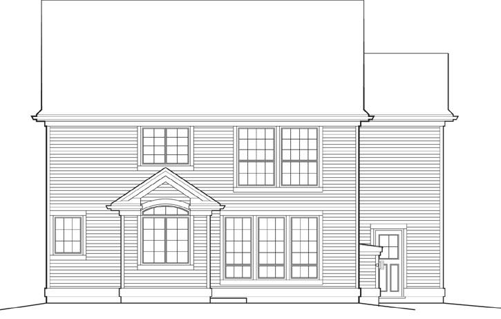 Rear Elevation Plan: 74-577