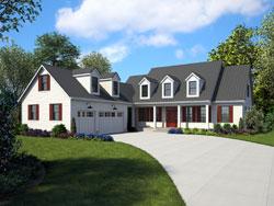 Modern-Farmhouse Style Home Design Plan: 74-583