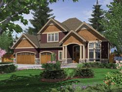 Cape-Cod Style Home Design Plan: 74-594