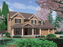 Country Style House Plans Plan: 74-607