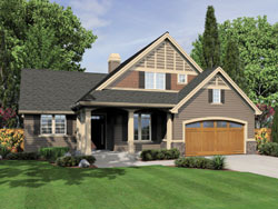 Country Style Floor Plans Plan: 74-609
