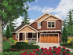 Craftsman Style House Plans Plan: 74-625