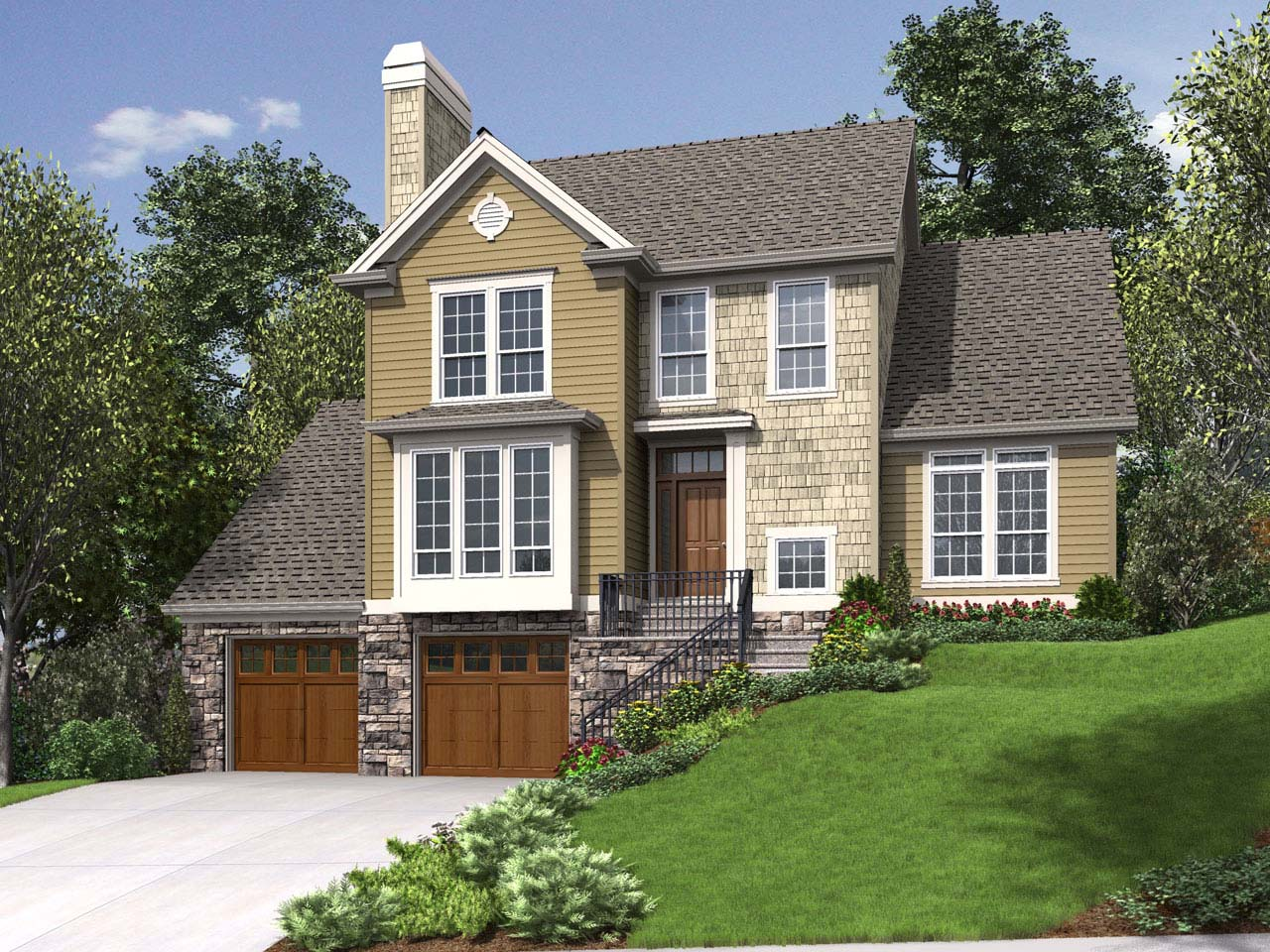 Traditional Style Floor Plans Plan: 74-632