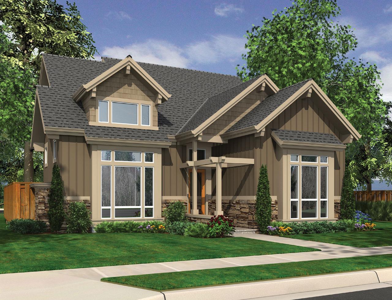 Craftsman Style Floor Plans Plan: 74-660