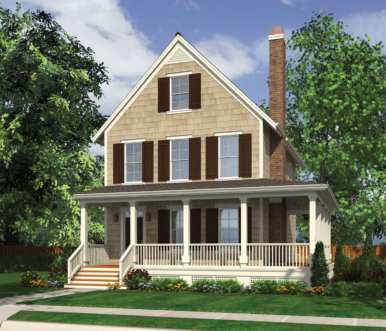 Colonial Style House Plans Plan: 74-663