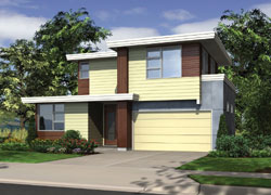 Contemporary Style Floor Plans Plan: 74-668