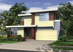 Contemporary Style Home Design Plan: 74-668