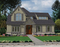 Cottage Style Home Design Plan: 74-669