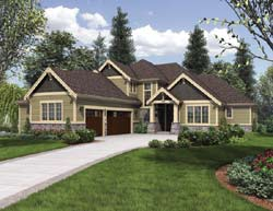 Craftsman Style Floor Plans Plan: 74-681