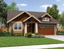 Craftsman Style Home Design Plan: 74-683