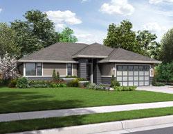 Contemporary Style Home Design Plan: 74-684
