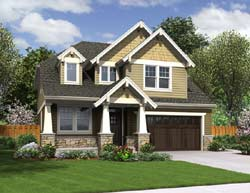 Craftsman Style Home Design 74-692