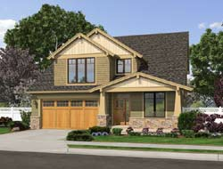 Craftsman Style Home Design Plan: 74-693