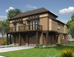 Contemporary Style Floor Plans Plan: 74-694