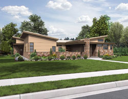 Contemporary Style Floor Plans Plan: 74-695