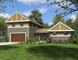 Contemporary Style Home Design Plan: 74-696