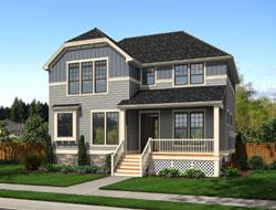 Craftsman Style Home Design Plan: 74-699