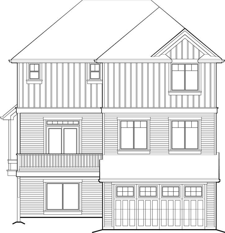 Rear Elevation Plan: 74-702