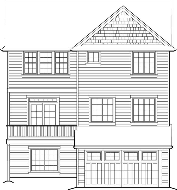 Rear Elevation Plan: 74-703