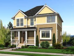 Craftsman Style Home Design Plan: 74-705