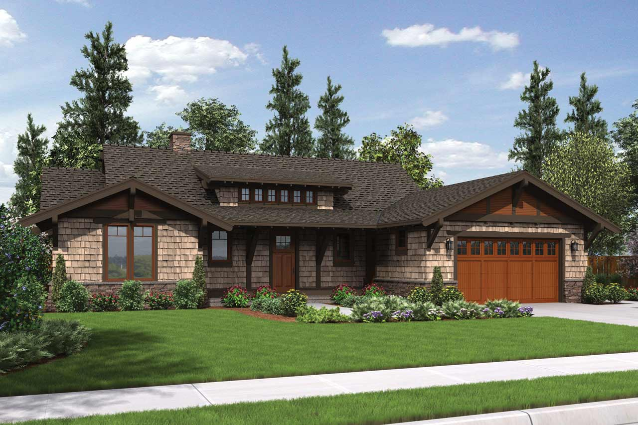Bungalow Style Floor Plans Plan: 74-710