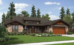 Bungalow Style Home Design Plan: 74-710