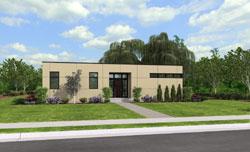 Modern Style Home Design Plan: 74-711