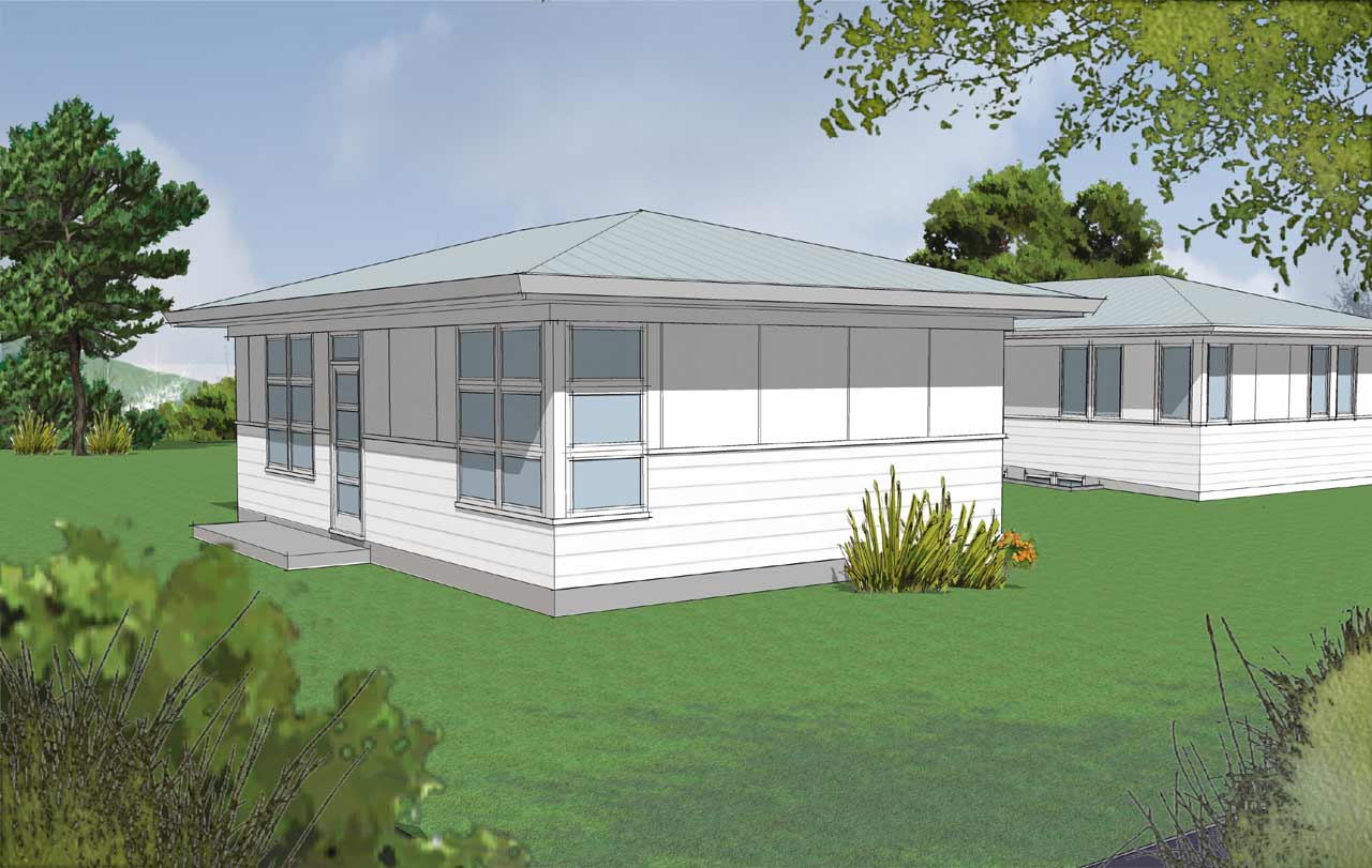 Contemporary Style House Plans Plan: 74-715