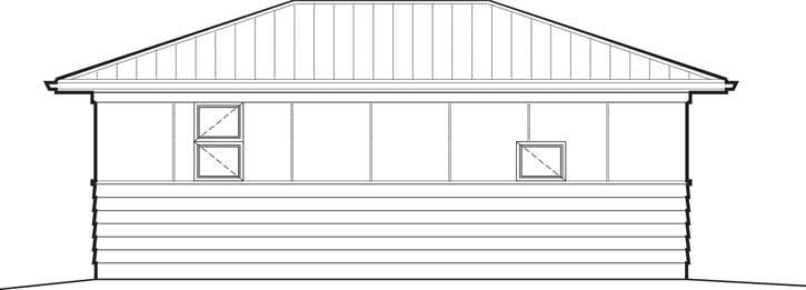 Rear Elevation Plan: 74-715