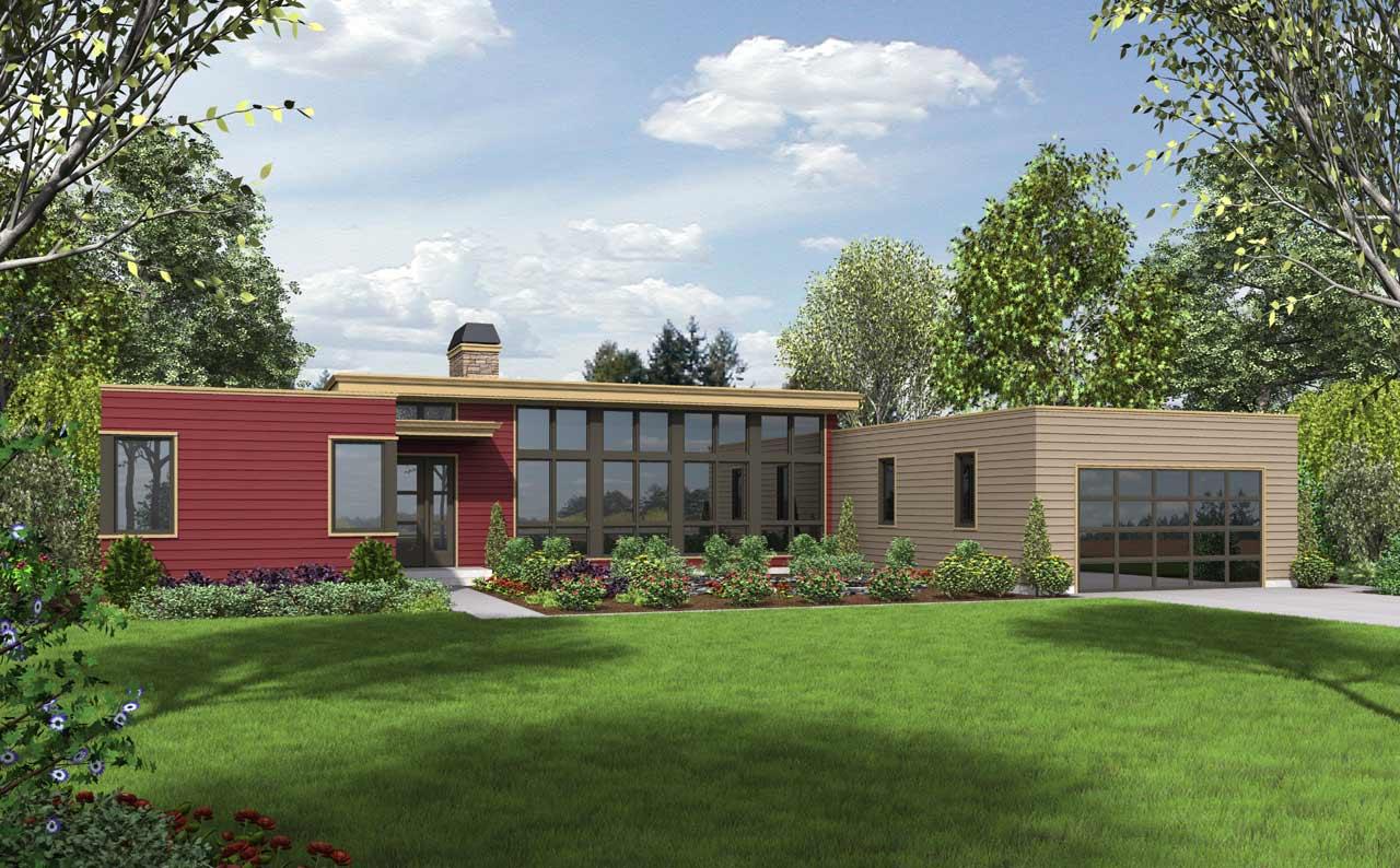 Modern Style Floor Plans Plan: 74-718
