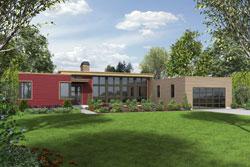 Modern Style Home Design Plan: 74-718