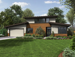 Contemporary Style Floor Plans Plan: 74-719