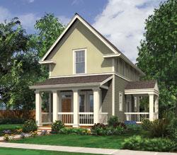 Cape-Cod Style Home Design Plan: 74-727