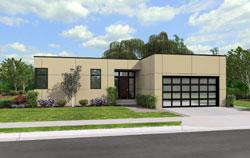 Modern Style House Plans Plan: 74-729