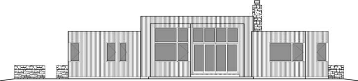 Rear Elevation Plan: 74-731