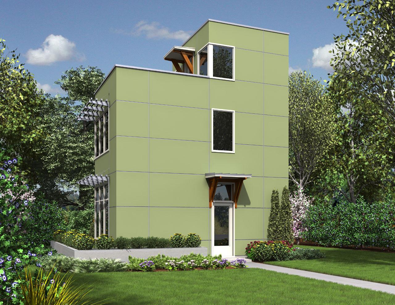 Modern Style Floor Plans Plan: 74-734