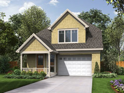 Cottage Style Home Design Plan: 74-735