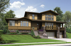 Contemporary Style Floor Plans Plan: 74-751