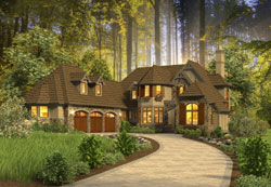 Cottage Style Floor Plans Plan: 74-757