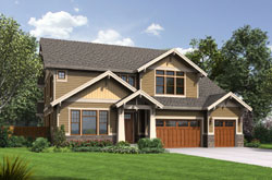 Craftsman Style Home Design Plan: 74-761