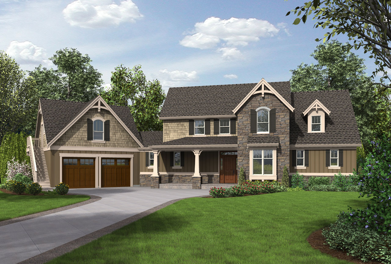 Country Style Floor Plans Plan: 74-767