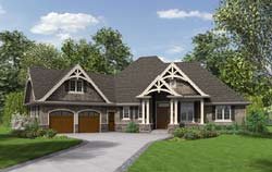 Craftsman Style Floor Plans 74-768