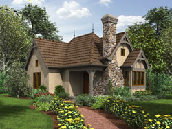 European Style Floor Plans Plan: 74-783