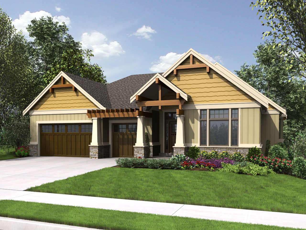 Craftsman Style Floor Plans Plan: 74-787