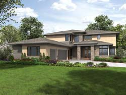 Contemporary Style Home Design Plan: 74-791