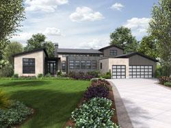 Modern Style House Plans Plan: 74-795