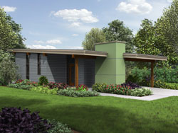 Contemporary Style Floor Plans Plan: 74-796