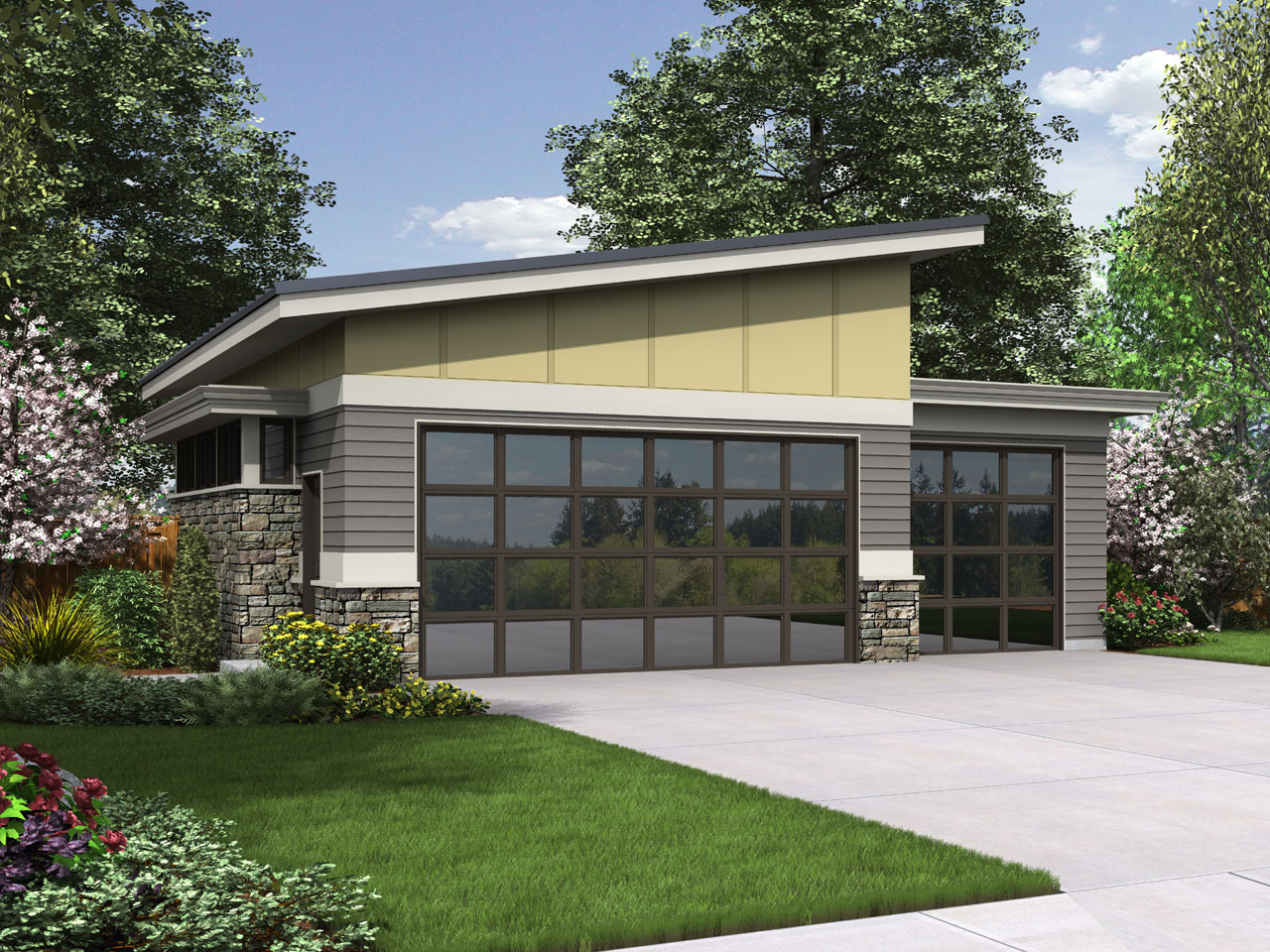 Contemporary Style House Plans Plan: 74-797